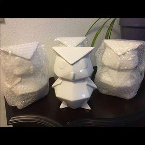 Owl ceramic figurine, decoration , gift, etc